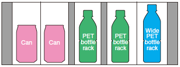 Equipped with 3-column PET bottle rack